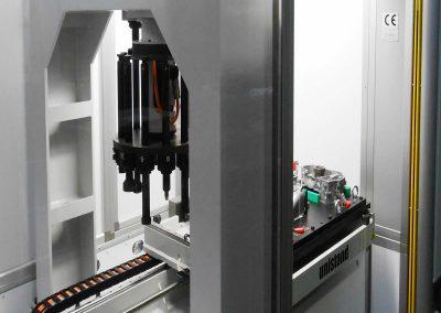 Centro di piantaggio CNC universale a due presse contrapposte in posizione verticale fissa